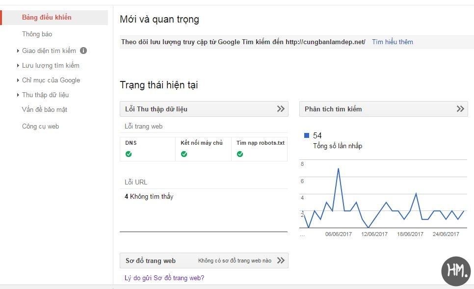 thong bao loi tren webmaster tool