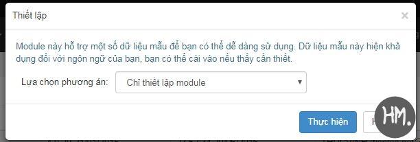 thiet lap module moi